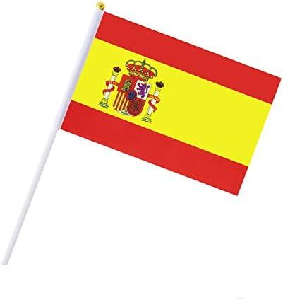 Hemore Banderas Pequeñas,Banderas de Mano,50 PCS 14 x 21CM Mini ...