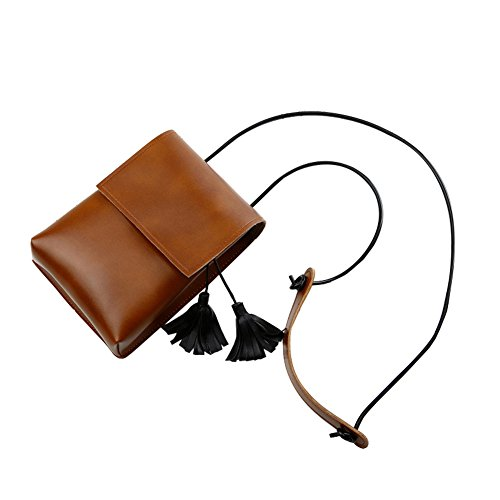 Bag Make Bucket Tassel Small Brown Mini Phone Waist Bag Mobile up Pink Girls Daliuing Shoulder Shoulder Women Leisure Pouch qAw0tSxX