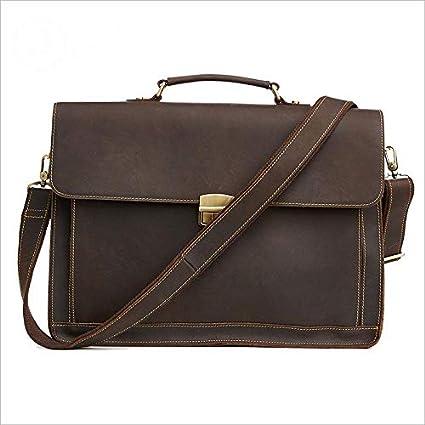 Bolsos de maletín de cuero para hombres Bolsas de mensajero para portátil Bolsas de hombro Bolsas