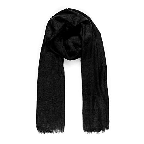 (Scarves for Women: Lightweight Solid color Fall Winter Fashion Scarf by MIMOSITO (Black))