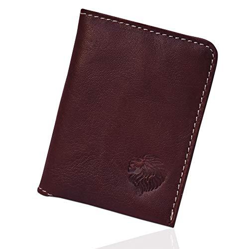 Louis Pelle Leather Minimalist Wallet RFID Blocking Bifold Slim Wallet