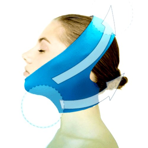 New Version Beauty V-Line Face Chin Neck Facial Skin Lift Up Belt Mask - Blue by Dexac (Best Neck Firming Exercises)