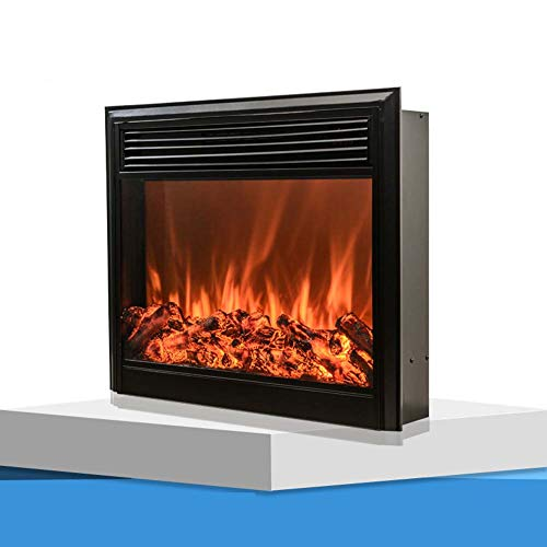 Cheap TTIK Electric Fireplace Traditional Antiqued Build in Recessed Cold-Rolled Plate 750W-1500W with Remote Control L700 W180 H600MM Black Friday & Cyber Monday 2019