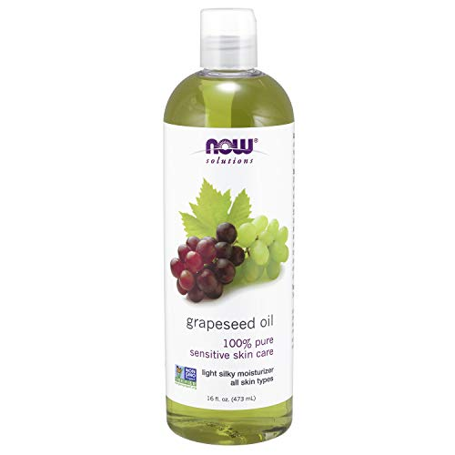 NOW Solutions, Grapeseed Oil, Skin Care for Sensitive Skin, Light Silky Moisturizer for All Skin Types, 16-Ounce ()