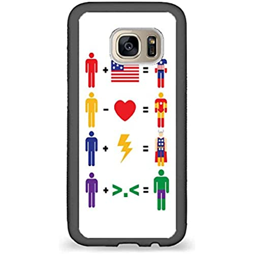 Custom Phone Cases Design for Samsung Galaxy S7 - Words Inspire, Avengers Math back phone cases Sales