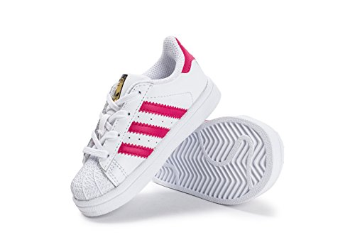Zapatillas adidas – Superstar I blanco/rosa/blanco