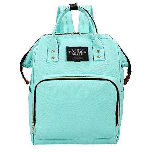 Fheaven (TM) Mummy Handbag Bag Handbag Nappy Bottle Bag Baby Bag Large Capacity Travel Backpack (Light Green) by Fheaven (TM)