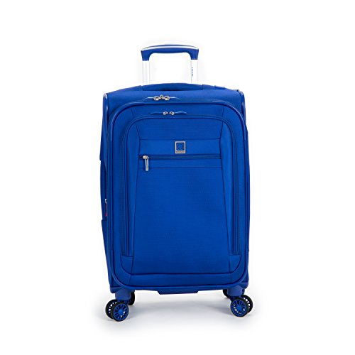 Expandable Trolley Spinner On Carry - Delsey Luggage Helium Hyperlite Carry On Expandable Spinner Trolley (Blue)