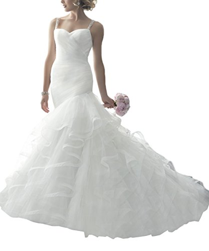 Women's Romantic Beach Mermaid Wedding Dresses Bridal Gown 41OAVkaXTIL home Home 41OAVkaXTIL
