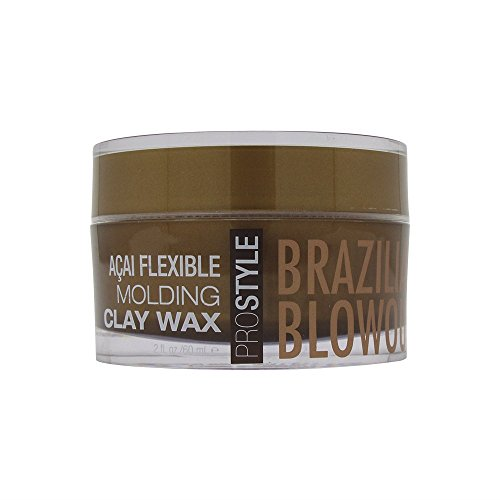 Brazilian Blowout Acai Flexible Molding Clay Hair Wax 2 Ounce 60 Milliliter Specialized Waxes