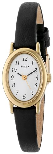 Timex Women's T21912 Cavatina Black Leather Strap Watch (Womens Large Faced Watches)