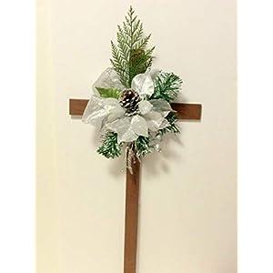 Christmas Cemetery Cross, Cemetery Flowers, Memorial Cross 90