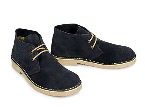 Roamers Mens Suede Desert Boots Original Classic Styling Navy niCpdf3clQ