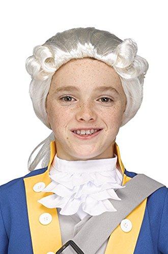 Fun World Child George Washington Costume Colonial Wig for $<!--$17.95-->