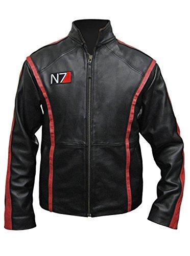 ST Café Racer Mens Leather Jacket Black Red