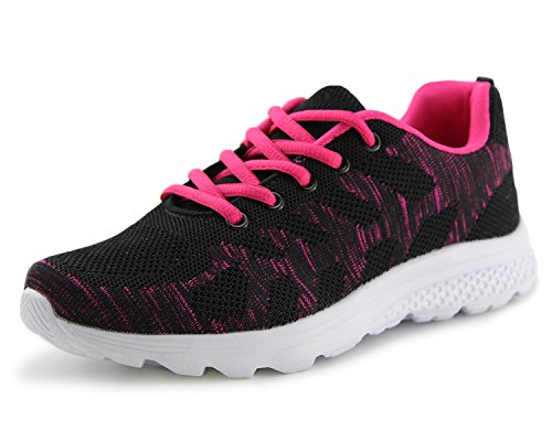 Jabasic Women's Breathable Knit Sports Running Shoes Casual Walking Sneaker(6, BF)