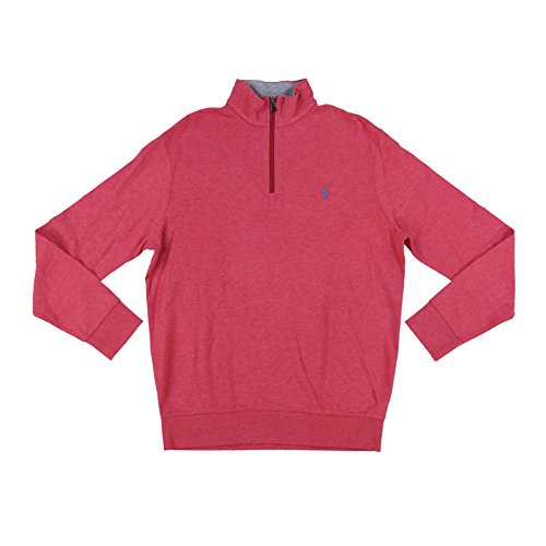 - Polo Ralph Lauren Men's Jersey Half Zip Long Sleeve Pullover Shirt (Medium, Orange Heather)