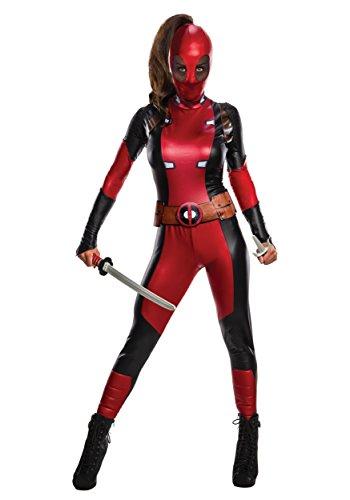 Marvel Women's Deadpool Costume, Multi, (Ryan Costume)