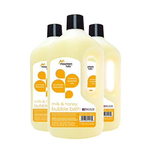 Honey Milk Bath - Mountain Falls Bubble Bath with Essential Oils, Milk and Honey, 64 Fluid Ounce (Pack of 3)