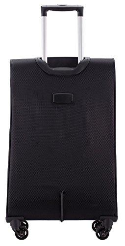 HAUPTSTADTKOFFER® 33 Liter (ca. 50 x 35 x 19 cm) Weichgepäck · Handgepäck · MITTE LIGHT · SCHWARZ