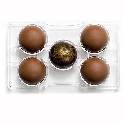 7aab028ecff DECORA Molde de Chocolate Media Esfera con Base