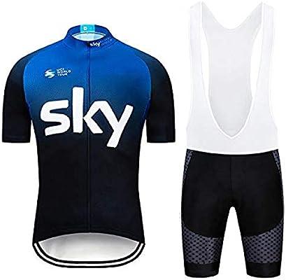 SUHINFE Maillot Ciclismo, Ropa Ciclismo y Culotte Ciclismo con 5D Gel Pad para Verano Deportes al Aire Libre Ciclo Bicicleta, AS-2Blue, XL: Amazon.es: Deportes y aire libre