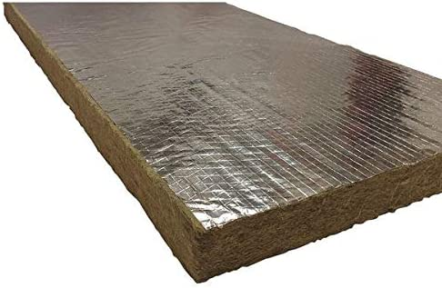 2 x 48 x 24 Mineral Wool//Foil Backing High Temperature Insulation,8#,Green