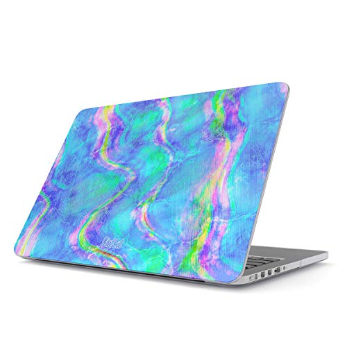 Abalone Iris (Glitbit Hard Case Cover Compatible with MacBook Air 13 inch Case Release 2018-2019, Model: A1932 with Retina Display and Touch ID Mermaid Abalone Sea Shell Iris Holographic Opal Cotton Candy)