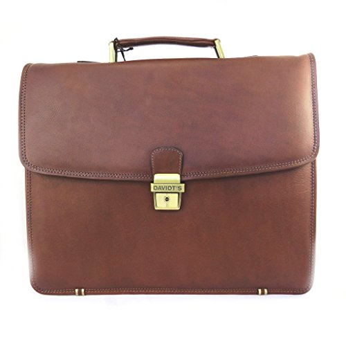 Price comparison product image Brown leather briefcase vendôme 15 (3 folds).