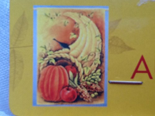 Cornucopia Decorative Flag, Garden Yard, Thanksgiving Yard Flag, Fall Flag, Harvest Flag]()