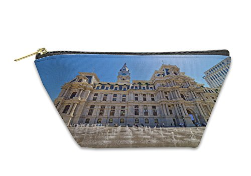 Gear New Accessory Zipper Pouch, Philadelphia City Hall With The Fountain On Penn Square, Small, - Square Stores Penn
