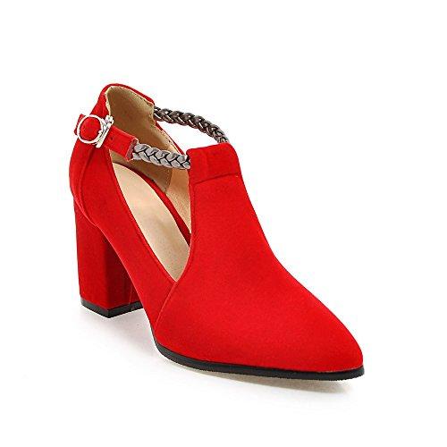 MEI Zehe Blockabsatz amp;S Schuhe Mund Flachen Frauen Heels Spitzen LSM E5qYXOw