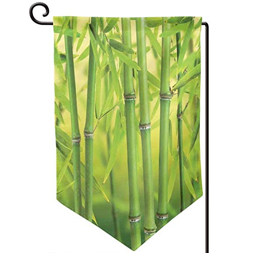 (lsrIYzy Garden Flag,Close Up of Bamboo Sprouts Stems Nature in Tropical Rain Forest Wildlife Asian Feng Shui,12.5x18.5 inch)
