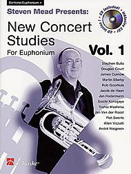 Steven Mead Presents: New Concert Studies for Euphonium Book With CD Vol. 1 Bass - Steven Presents Mead
