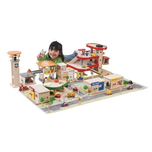 Constructive Playthings CPX-912 Wood-Town City Combo Set