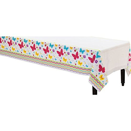 Celebrate Spring Plastic Table Cover Tableware Decoration (1 Piece), Multi Color, 54'' x 102''.