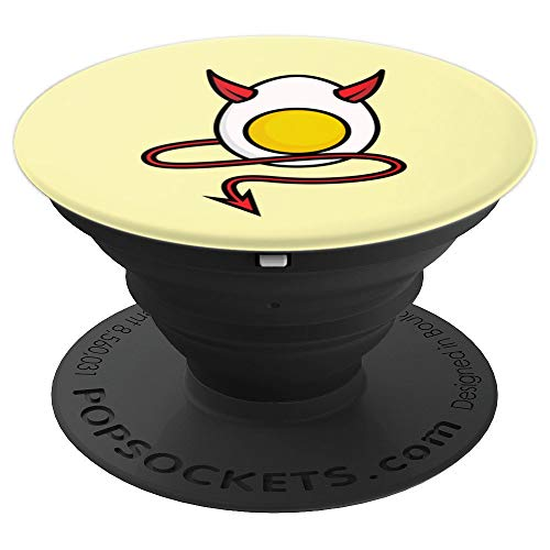 Deviled Egg Halloween Art | Cool Boiled Egg Funny Gift - PopSockets Grip and Stand for Phones and Tablets ()