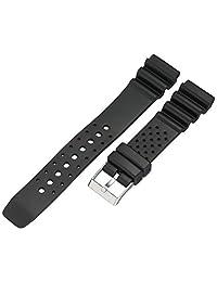 Voguestrap TX2031BK Allstrap 20mm Polyurethane Black Watch Strap