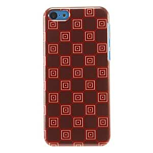 SOL Special Squares Pattern Hard Case for iPhone 5C