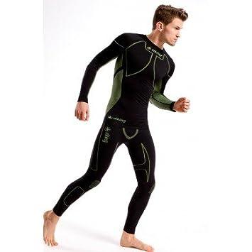 02dd62186300ef Viking Nevil SET Herren Funktionsunterwäsche Atmungsaktiv Skiunterwäsche + Shorts - schwarz-grau