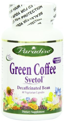 Paradise Herbs Vegetarian Capsules, Svetol Green Coffee Bean, 60 Count (Pack of 3) by Paradise Herbs