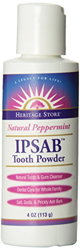 IPSAB Tooth Powder Peppermint - 4 Ounce - Powder Ipsab Tooth Heritage