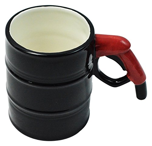Fairly Odd Novelties FON-10239 Oil Drum Gas Pump Handle Coffee Tea 14oz Mug, Black