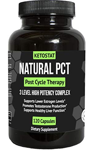 60 Day Clinical Grade Post Cycle Therapy Supplement for PCT Support for Men | Potent 3-in-1 PCT Supplement with Estrogen Blockers, Testosterone Booster, Liver Support and Boosts Libido (Best Testosterone For Cutting Cycle)