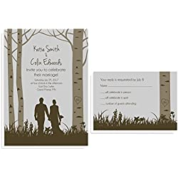 Forest Woodland Wedding Invitation Sets