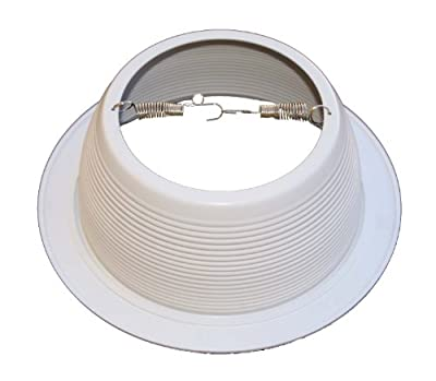 """6"""" Inch White Baffle Recessed Can Light Trim Replaces HALO 310 W JUNO 24W-WH - 48 PACK"""