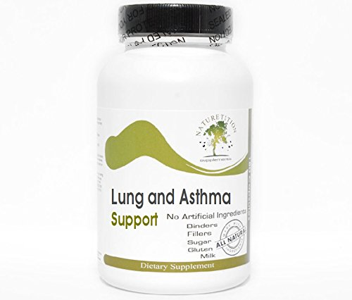 Lung and Asthma Support ~ 180 Capsules - No Additives ~ Naturetition Supplements