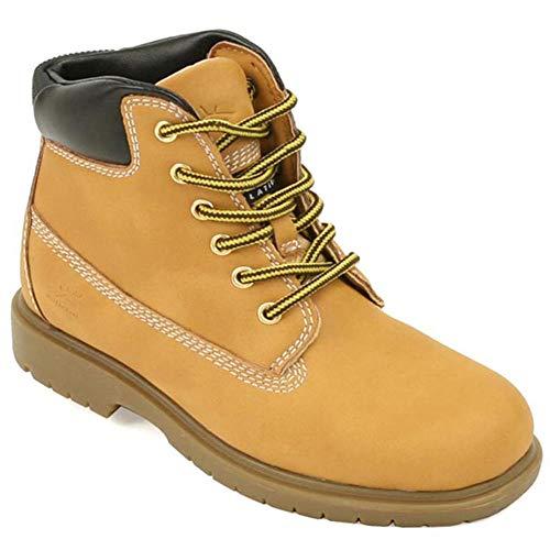 Deer Stags Big Boys' Mak2 Waterproof Work Boots Wheat - Mountain Deer