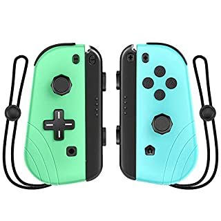Wireless Controller for Nintendo Switch,Proslife Joy-con Replacement with Wrist Strap,L/R Remotes Gamepad Joystick for Switch Console-Animal Crossing