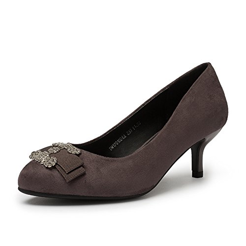 PUMPS Ladies, Heels und Heels,Strass Set Foot Schuhe-B Fußlänge=23.3CM(9.2Inch)